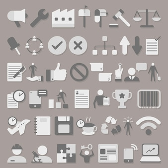 Pictogrammen bedrijfs set