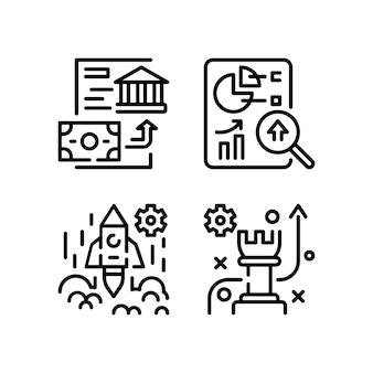 Pictogrammen bedrijfs set.