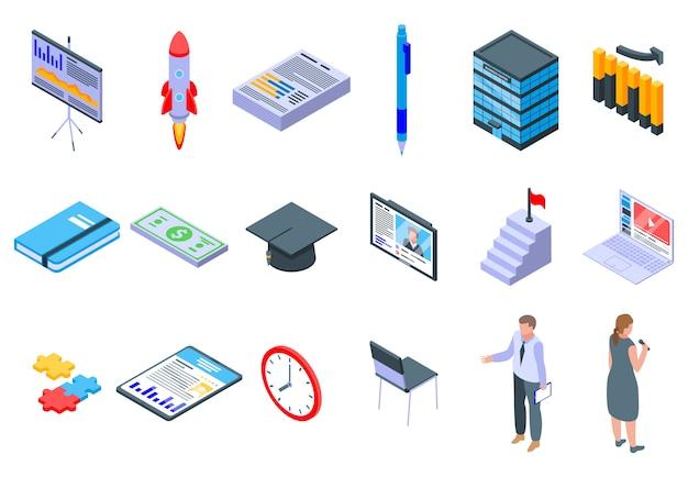 Pictogrammen bedrijfs van opleiding instellen