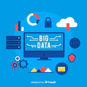 Pictogrammen big data-achtergrond
