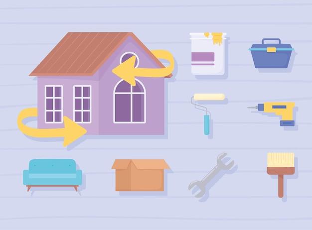 Pictogrammen huisverbetering