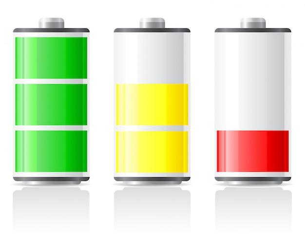 Pictogrammen laden batterij op.
