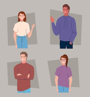 Pictogrammen mensen in verschillende poses