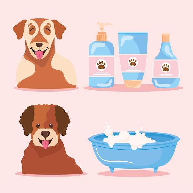 Pictogrammen met honden