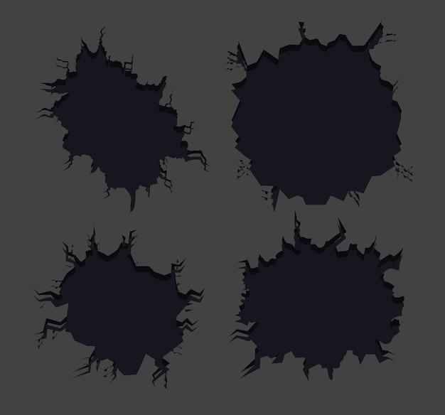 Pictogrammen ramp of breken breuk