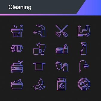 Pictogrammen schoonmaken
