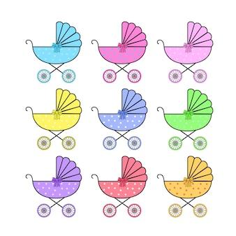 Pictogrammen, stickers toegankelijk in verschillende kleuren
