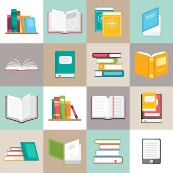 Pictogrammen van boeken