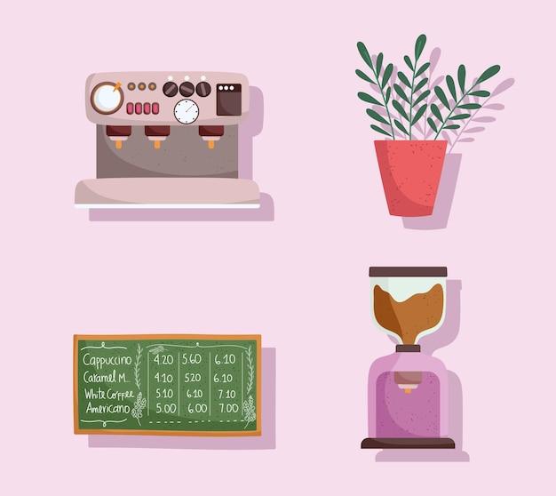 Pictogrammen van coffeeshops