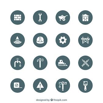 Pictogrammen van de bouw