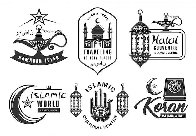 Pictogrammen van de moslimcultuur