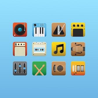 Pictogrammen van de muziek collectie