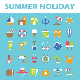 Pictogrammen van de zomer collectie