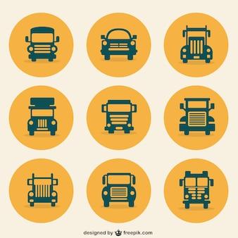 Pictogrammen van het vervoer