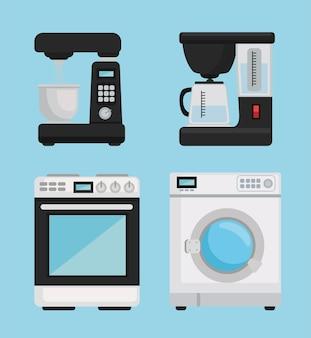 Pictogrammen van huishoudelijke apparaten
