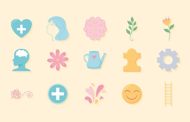Pictogrammen voor geestelijke gezondheid