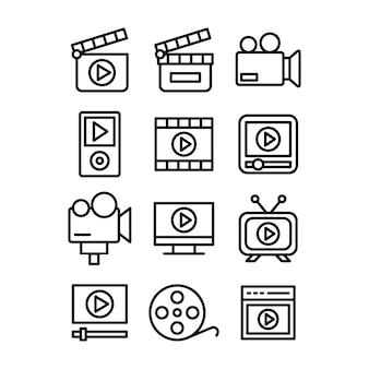 Pictogrammen voor het maken van video's