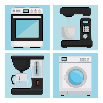 Pictogrammen voor huishoudelijke apparaten
