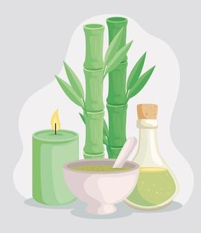 Pictogrammen voor kaarsen en spa