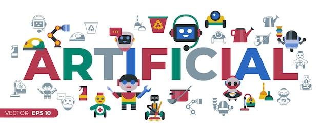 Pictogrammen voor service en schoonmaken van huisrobots