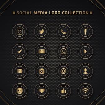 Pictogrammen voor sociale netwerken
