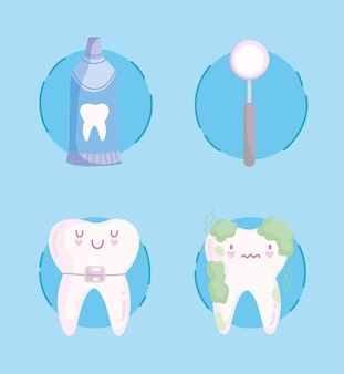 Pictogrammen voor tandheelkundige zorg