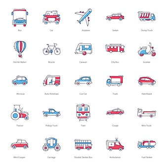 Pictogrammen voor transportpictogrammen