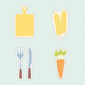 Pictogrammen voor verse producten