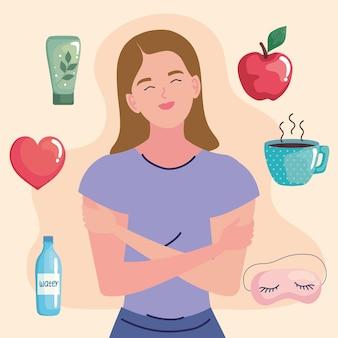 Pictogrammen voor vrouwen en zelfzorg