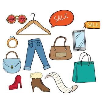 Pictogrammen voor winkelen en verkopen