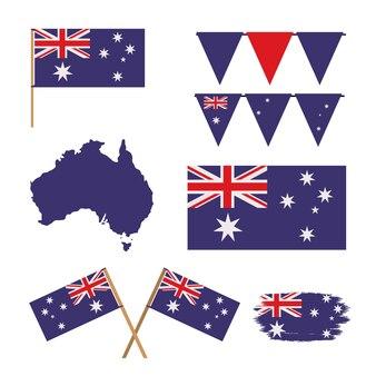Pictogrammenreeks van de dag van australië