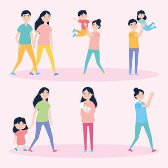 Pictogrammenset voor mensen en kinderen