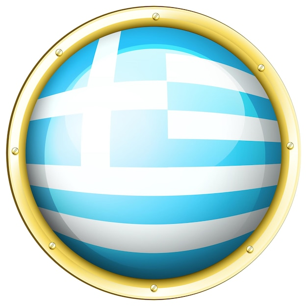 Pictogramontwerp voor de vlag van griekenland