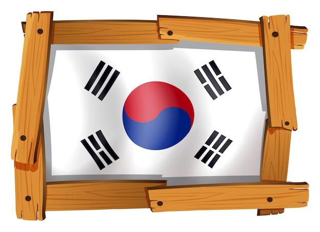 Pictogramontwerp voor vlag van zuid-korea