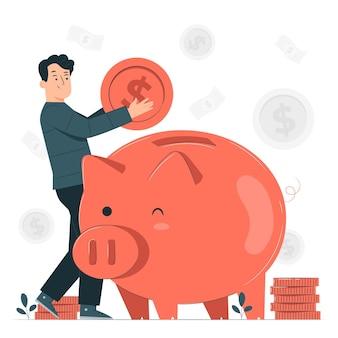 Piggy bank concept illustratie