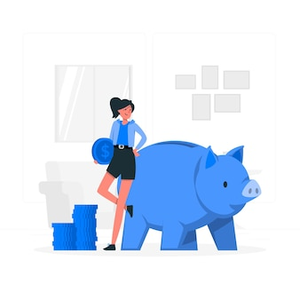 Piggy bank concept illustratie