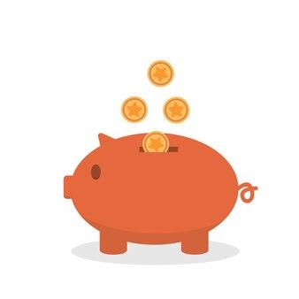 Piggy bank illustratie