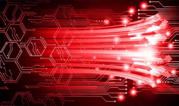 Pijl cyber circuit toekomstige technologie concept achtergrond
