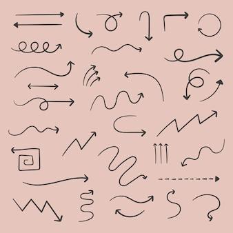 Pijl doodles instellen