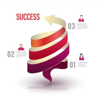 Pijl draai omhoog naar succesnummeropties met pictogrammen.