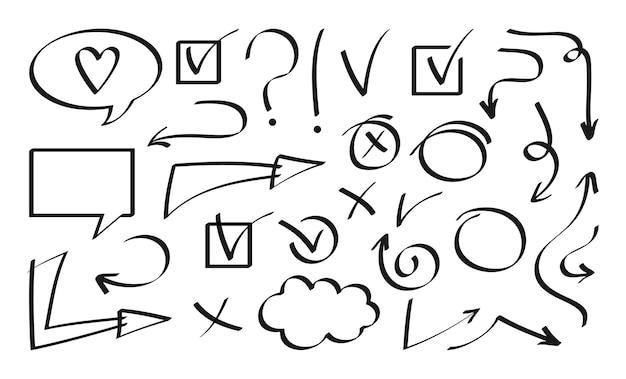 Pijl en toespraak bubble zwarte ontwerpset element