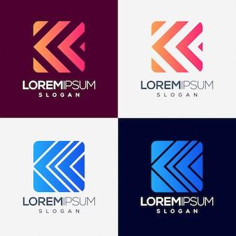 Pijl kleurrijk verloop logo ontwerp