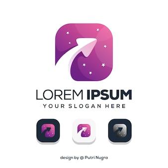 Pijl logo ontwerp geïsoleerd op wit