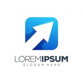 Pijl logo vectorillustratie