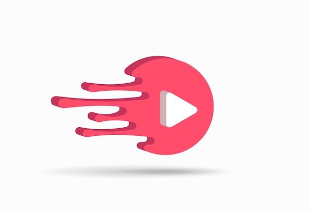 Pijl media spelen pictogram illustratie