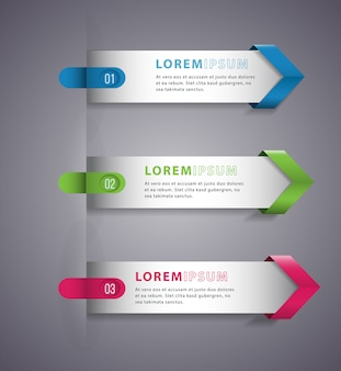 Pijl moderne digitale sjabloon vector banner infographics.