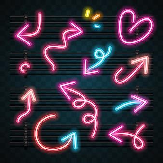 Pijl neon set