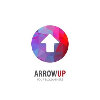 Pijl omhoog logo voor bedrijf. eenvoudig pijl-omhoog logo-ideeontwerp. huisstijl concept. creatieve pijl-omhoog icoon uit de collectie accessoires.