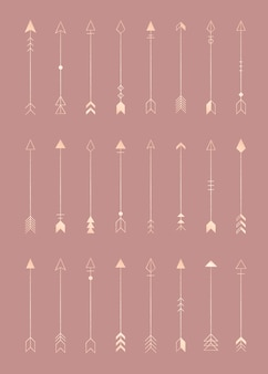 Pijl pictogrammen elementen