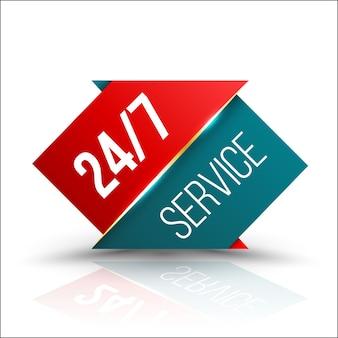 Pijl rood groen service 24/7